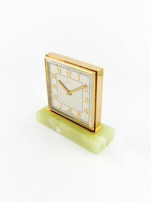 Rare Tiffany & Co partner table desk clock with 8-day movement (Duo face) 1950´s