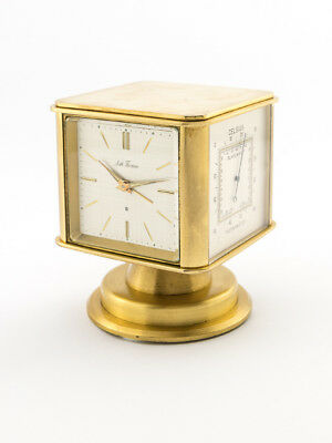 Seth Thomas Table Clock with 8 day movement, alarm and weather station, 1970s