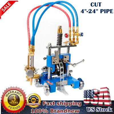 Manual Pipe GAS Cutting Machine 5-50mm Thickness Safe Beveling US STOCK