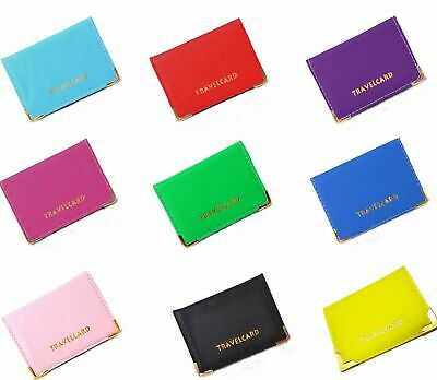New PU Leather Oyster Travel Card Bus Pass Holder Wallet Rail Card Cover Case
