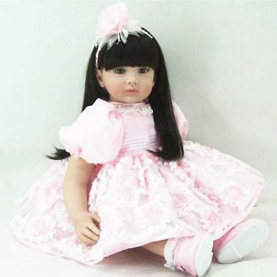 22'' Princess Baby Girl Doll Vinyl Toddler Unique Lifelike Reborn Toy Kids Gift