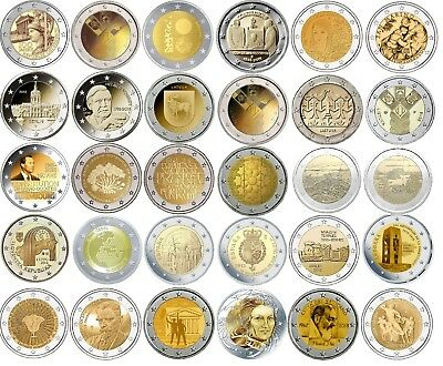 2 Euro commemorative coins 2018 - coins or coincards - UNC or BU or Proof