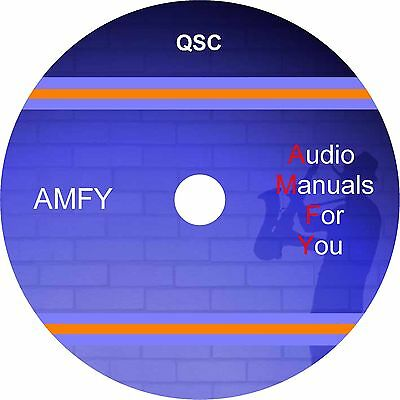 Qsc servicemanuals, ownersmanuals and schematics on 1 dvd