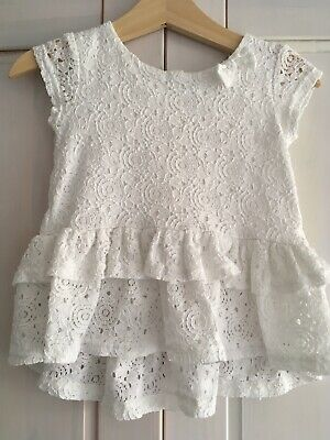 Floral Frilled Short Sleeved Top For Baby Girl 12-18 Months