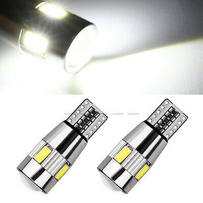 2X T10 501 194 W5W 5630 LED 6 SMD Car HID CANBUS Error Free Wedge Light Bulb 12V