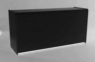 BLACK 1800mm COUNTER  WITH SHELF RETAIL DISPLAY SHOP FITTINGS CASH TILL WRAP