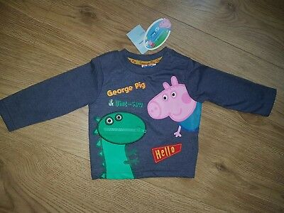 31f379b335 MOTHERCARE BOYS PEPPA Pig George & Dino Top 3-6 months - £9.99 ...