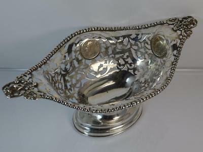 Heavy 1905 Edwardian Chester Silver Bowl / Dish by George Nathan Ridley Hayes