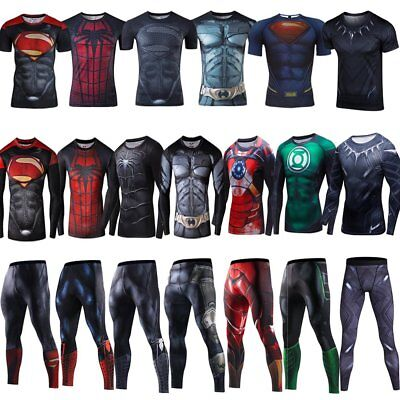The Avengers Mens Compression Top T-shirt Gym Superhero Marvel Workout Sport Tee