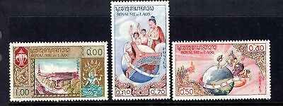 Laos 3 early mint issues see 2 scans below