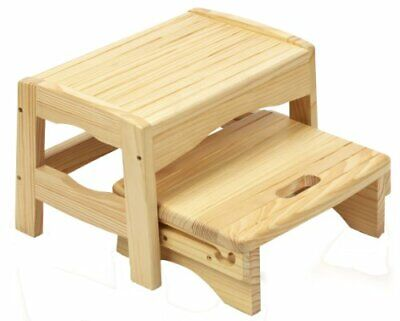 Safety 1st Wooden Children's Toddler's 2 Step Stool - Natural Wood