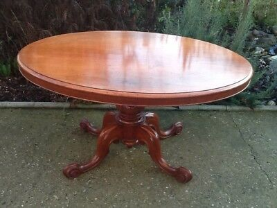 Antique Victorian Tilt Top Dining Table In Vgc Reduced By £100.