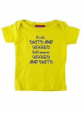 Its All Sh ts and Giggles Funny Slogan Baby T Shirt