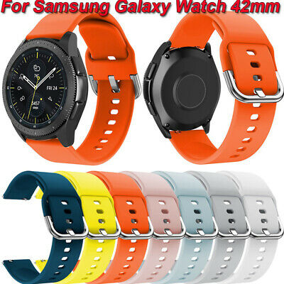 Soft Sports Silicone Replacement Watch Band Straps For Samsung Galaxy Watch 42mm