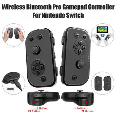 2X Wireless Bluetooth Pro Gamepad Remote Controller for Nintendo Switch Black