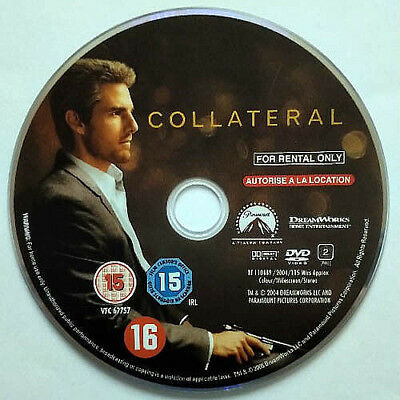 Collateral (DVD) Disc Only - 2004 - Tom Cruise - Jamie Foxx - Jada Pinkett Smith
