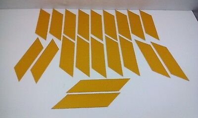 """( 20) YELLOW REFLECTIVE angle cut Vinyl Tape Strips, approximately 8"""" x  1 3/4"""""""
