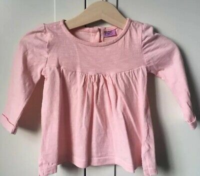 F&F Long Sleeved Pink Top Baby Girl 3-6 Months
