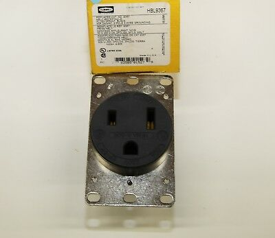 HUBBELL HBL5466C PLUG HBL5461 20a 250v RECEPTICLE *NEW*LOT OF 4 TWO EACH
