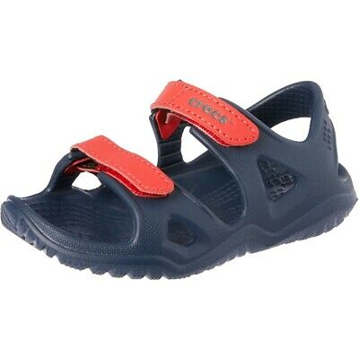 5361fec35d0f0 Crocs Swiftwater River Sandal K Marine Croslite Enfant Sangle Sandales