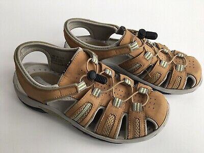 ef965b995c6b CLARKS Privo Women s Sandals Brown Tan Closed Toe Size 8 Hiking Sports  Outdoor