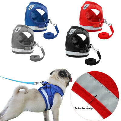 Leash Reflective Puppy Vest Pet Traction Rope Chest Strap Collar Dog Harness