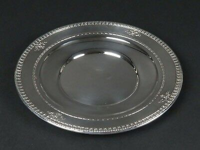 "Dominick Haff sterling silver solid Windsor pattern plate antique vtg 9.5"" 279g"