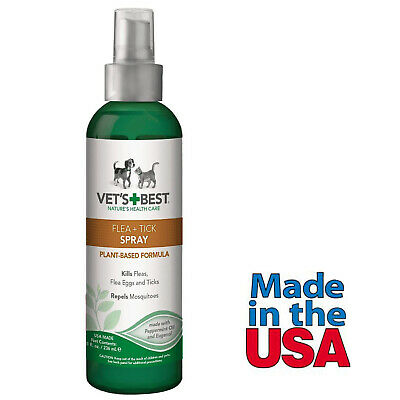 Flea Tick Control Spray for Dogs Vet's Best Made in USA 8 Fl Oz