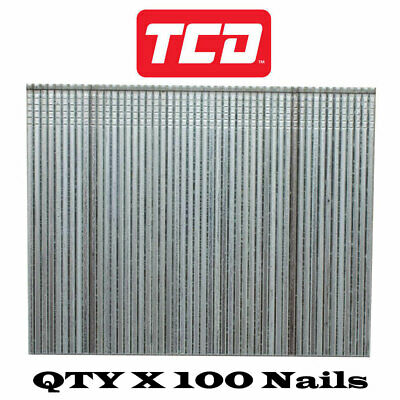 Brad Nails 16 Gauge Galvanised Finishing Nails For Air Gun  - 64mm - QTY X 100