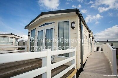 Caravan For Hire Towyn N Wales Large Enclosed Decking. CH. DG. Washer/dryer.Bath