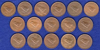 GB, Farthings, George VI, 1937 to 1952, Complete Date Run, 16 Coins (Ref. t2125)