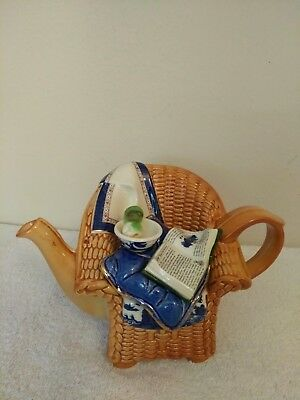Royal Albert Real Old Willow Summer Chair Earthenware Teapot Cardew Doulton