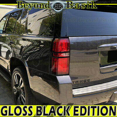 2014 2015 2016 2017 2018 SILVERADO 1500 GLOSS BLACK Tail Light Bezel Cover Trims