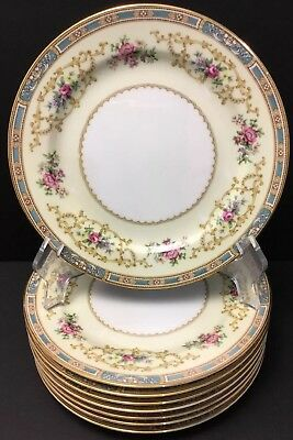Noritake China Colby Blue 5032 ~ 1 Salad Plate(s) Japan~Floral~Roses