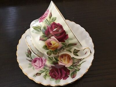 Royal Albert  - KINGS RANSOM - Teacup and Saucer Set~Red~Yellow~Roses~England