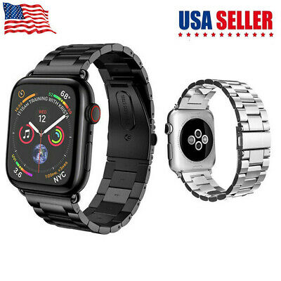 For iWatch Apple Watch Series 3 2 1 38/42mm Stainless Steel Wrist Band Strap US