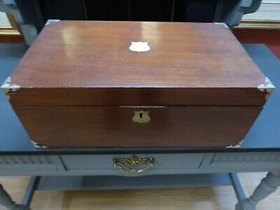 mahogany antique writing slope writing box great condition