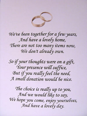 20 Wedding Poems Asking For Money Gifts Not Presents Ref No