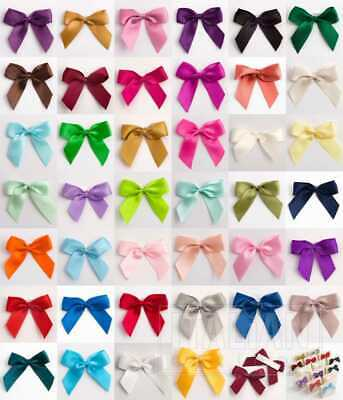 Large Self Adhesive 5cm Wide Satin- Pack 6/12-Pre-Tied Bows-16mm Ribbon-