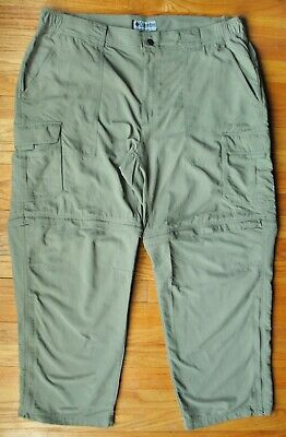 Columbia Titanium Convertible Cargo Pants in Drab Green Size 44 x 30 100% Nylon