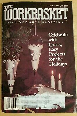 The Workbasket and Home Arts Magazine December 1989 Mint condition