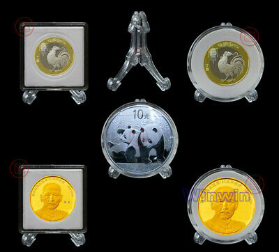 20PCS COIN CAPSULES Holder Portable Storage ALL SIZE from 16mm to 40mm Capsule