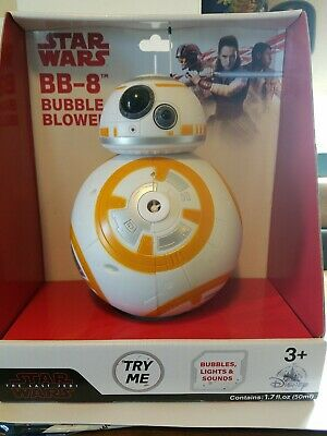DISNEY PARKS BB-8 Bubble Blower - Star Wars Last Jedi- Lights Sounds NEW in BOX