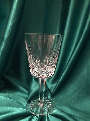 "Waterford Crystal Lismore Wine /water Goblet Glass 7"" - Mint"