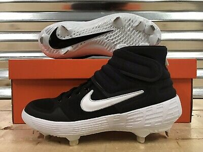 on sale 7e8a6 63a7a Nike Alpha Huarache Elite 2 Mid Baseball Cleats Black White SZ ( AJ6874-001  )