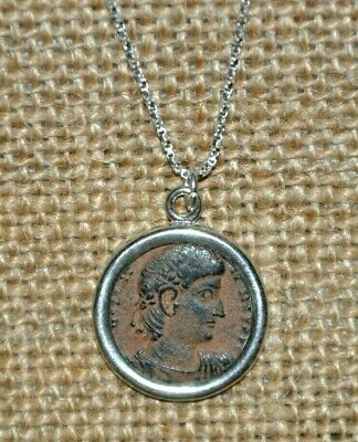 Authentic Ancient Constantine the Great Roman Imperial Coin 925 Silver Necklace