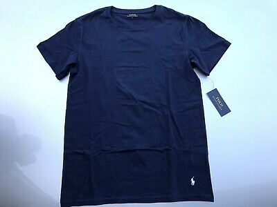 mens Ralph Lauren Polo Designer Short Sleeve T-shirt Blue Large New With Tags