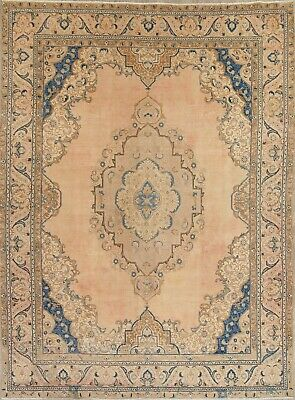 10 x 13 Persian Wool Handmade Floral Old Semi-Antique Oriental Area Rug CARPET