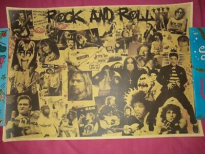 Rock and Roll Music Posters Famous Rock Singers Kraft Paper