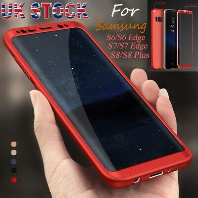 For Samsung Galaxy S6 S7 S8 Ultra thin ShockProof Hybrid 360 TPU Case Cover UK